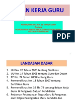 (3) Beban Kerja Guru Permendiknas 39 Tahun 2009