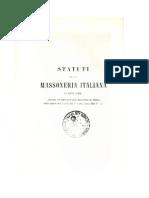 STATUTI DELLA MASSONERIA ITALIANA I864