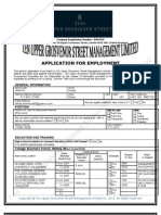 Ten Upper Employment Application Form