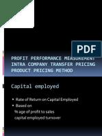 Profit Performance Measurement
