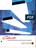 Benjamin Lighting Calumet Fluorescent Brochure 1972