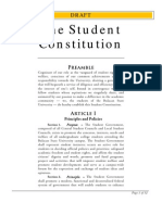 Proposed Revision to the Student Constitution