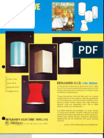 Benjamin Lighting Industrial HID Decorative Sleeves Brochure 1975