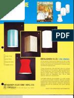 Benjamin Lighting Industrial HID Decorative Sleeves Brochure 1975