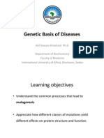 Genetic basis of disease (1)