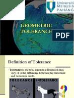 Lecture 8 Tolerance