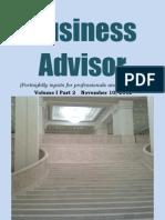 Business Advisor - November 10, 2012 - Preview, contents