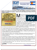 Colorado ESGR November newsletter