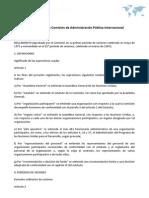 Reglamento de la Comisión de Administración Pública Internacional