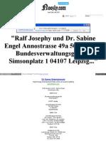 Strahlenfolter - Spähangriff - Mind Reading Systeme - Lynchjustiz - Probandenschutz - Unterlassungsklage Ralf Josephy