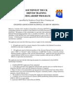 Eanga _ Southwest Truck Driver Training Scholarship Application and Instructions