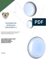 Portafolio De Evidencias               Informática 1