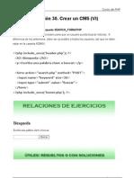 Crear un CMS con PHP VI Formulario de búsqueda 30 Curso PHP Tutoriales Academia Usero Estepona