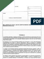 Borrador Real Decreto Ley de Medidas Urgentes Sobre Propiedad Intelectual (Julio 2012)