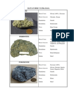 Batuan Beku Basa Ultra Basa