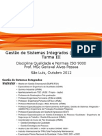 Notas de aula da disciplina Qualidade e Normas ISO 9000