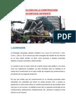 LA PATOLOGÍA EN LA CONSTRUCCIÓN - UN ENFOQUE DIFERENTE