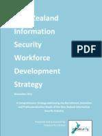 New Zealand Information Security Workforce Development Strategy - Nov 2012 - V1