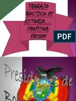 Trabajo de Los Presidentes