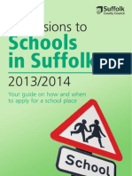 Schools in Suffolk Booklets 2013-2014 (Directory)