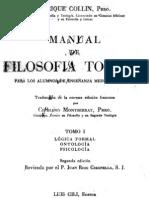 Manual de Filosofia Tomista - I - Collin - OCR