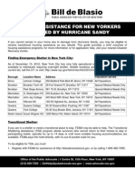 Housing Assistance for New Yorkers Impacted by Hurricane Sandy