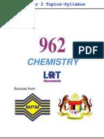 962 Chemistry [PPU] Semester 2 Topics-Syllabus