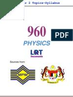 960 Physics [PPU] Semester 2 Topics-Syllabus