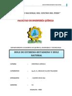 Informe Ind. Químicas - Hule de estireno-butadieno y natural