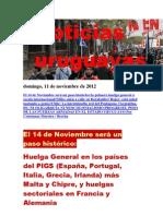 Noticias Uruguayas Domingo 11 de Noviembre Del 2012