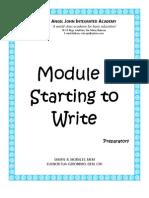 Module 1 Starting to Write (Preparatory Level)