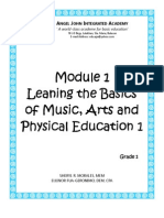 Learning the Basics of Music, Arts and Physical Education