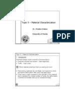 Topic 5 - Material Characterization