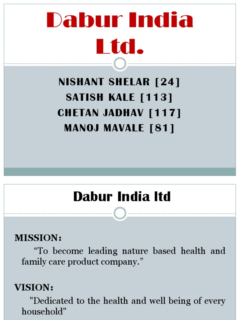 mission of dabur