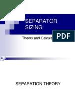 Separator Sizing
