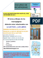 Cartel Concurso Marcapáginas - 2012-2013