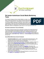 Social Media Monitoring Tools Kostenlos Netzschnipsel