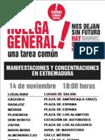 Cartel de La Huelga General 14