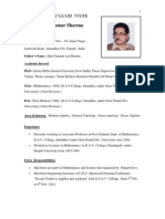 Bio-Data ( DR.P.K.sharMA) as on 1st Novemeber 2012