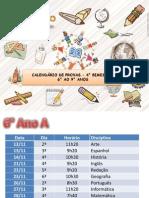 Calendario de provas 4° bimestre f2