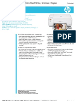 HP Photosmart C4480 Printer DataSheet
