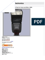 Yongnuo YN-560 II Speedlight Flash for Canon and Nikon. GN58.