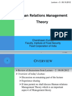 Lecture - 3 Human Relations Management Theory