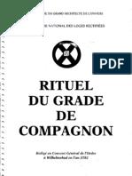 GPDG.RITUEL POUR LR GRADE DE COMPAGNON AU RITE ECOSSAIS RECTIFIè 1802