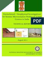 NDMA Geotech Sitharam August 16 2011
