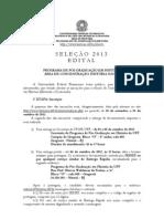 2013 EditalSelecao UFF