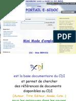 Mode d'Emploi de BCDI - E-Sidoc