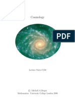 C358 MSci Cosmology Lectures (UCL)