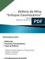 Relleno de Mina Enfoque Geomecanico