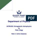 ASTM052 Extragalactic Astrophysics Notes 4 of 6 (QMUL)